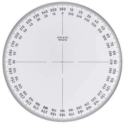 pin 360 protractor template printable geometry on pinterest