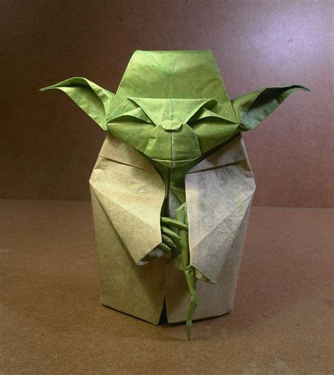 Yoda Origami - wars origami episode ii clones droids yoda and more