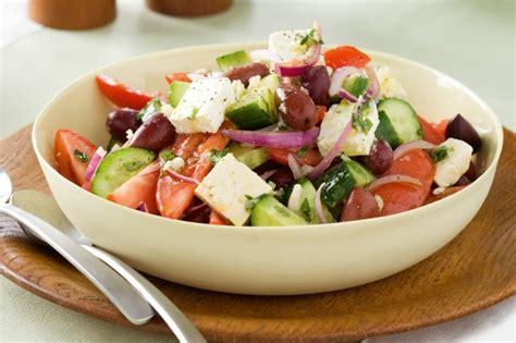 greek salads super easy greek salad recipe taste com au