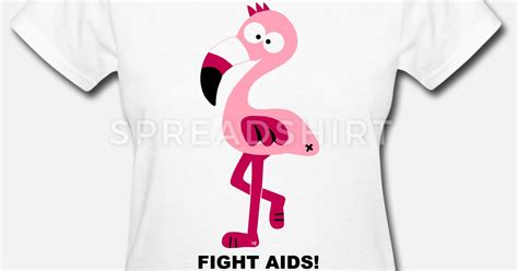 Tshirt Kaos I Fight Hiv Aids flamingo fight aids hiv statement shirt pink by