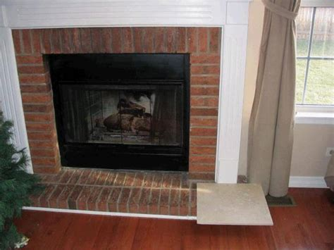 Fireplace Tile Brick by Mosaic Tile Brick Fireplace Farmhouses