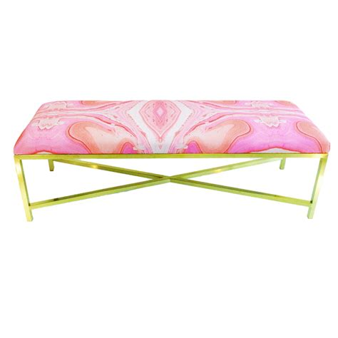 pink bench pink marble eleanor bench