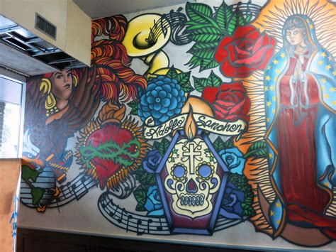 celeb chef restaurant mural   orleans graffiti usa