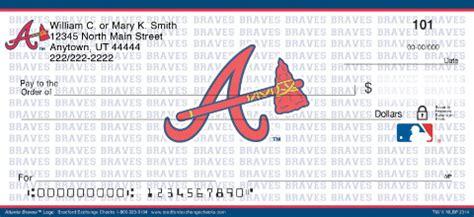 Atlanta Background Check Atlanta Braves Mlb 174 Logo Personal Checks