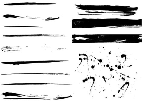 free grunge paint splashes vector 123freevectors