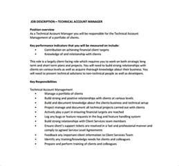 Technical Description Template by 10 Account Manager Description Templates Free