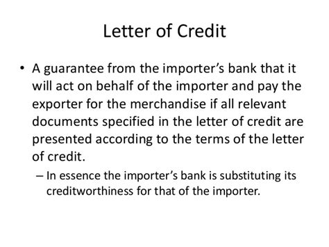 Letter Of Credit Guarantee Scheme project on export process and documenatin of leather by