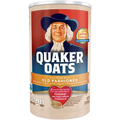 whole grain quaker oats quaker oats 100 whole grain fashioned oatmeal from