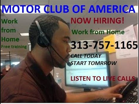 mca work from home call reps for motor club of