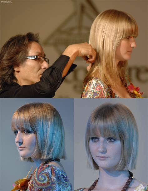 Piecy bangs for hair around the shoulders, a chinline crop