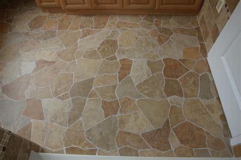 Broken tile pattern porcelain floor New Jersey Custom Tile