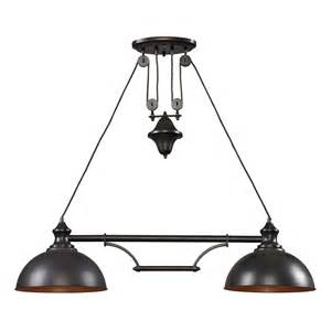 Farmhouse Pendant Lights Farmhouse Linear Pendant Light By Elk Lighting 65150 2