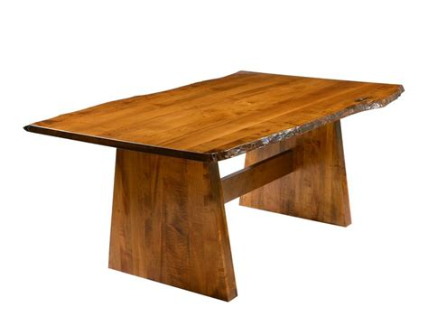 Amish Made Dining Tables Amish Made Bayport Rustic Table With Live Edge