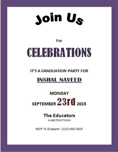 free templates for invitation flyers image gallery invitation sles for event