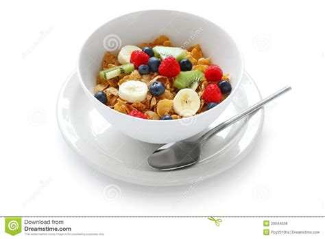Ejuice Matjan Breakfast Berry Cereal Milk breakfast cereal with fresh fruits stock photo image 20044558