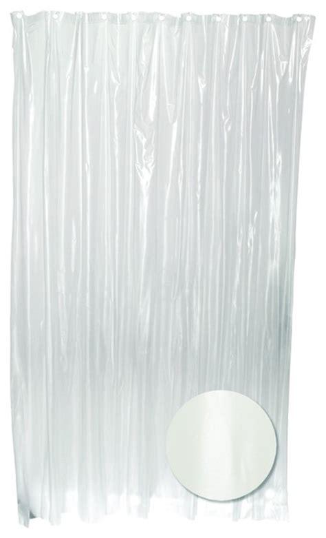 clear vinyl shower curtain zenith h29kk pvc vinyl clear heavy gauge shower curtain