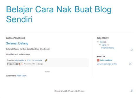 tutorial buat website html tutorial blog cara buat sendiri rahsia duit free cara nak