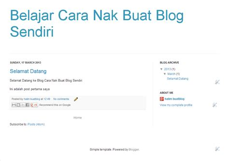 cara membuat blog online rahsia duit free cara nak buat blog