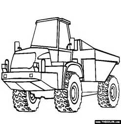 Dump Truck Coloring Page  Free Articulated Online sketch template