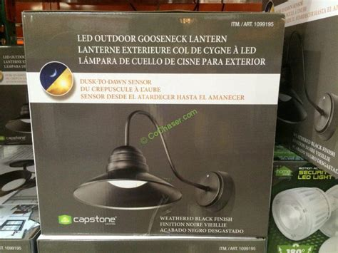 Costco Led Outdoor Lights Costco 1099195 Capstone Led Outdoor Gooseneck Lantern Inf Costcochaser