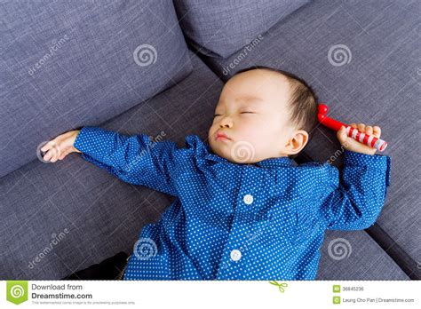 baby sleeping on couch asian baby sleeping royalty free stock image image 36845236