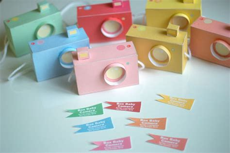 Paper Crafts Printable - printable paper craft pastel cameras