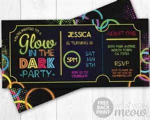admit one invitation template glow in the invitations tickets admit one invite