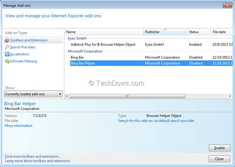 how to uninstall bing toolbar from control panel how to disable or remove bingsurrogate exe