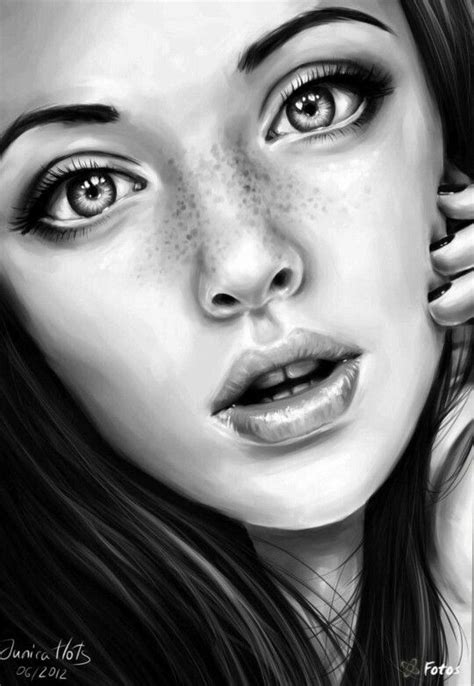 Gallery: Drawing Realistic Faces Grils, - Drawings Art Gallery