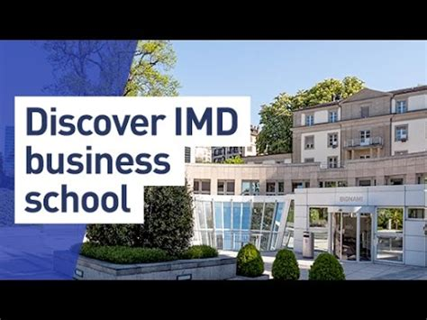 Imd Mba Program by Discover Imd Business School
