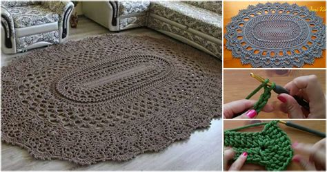 carpet crochet rug crochet oval rug