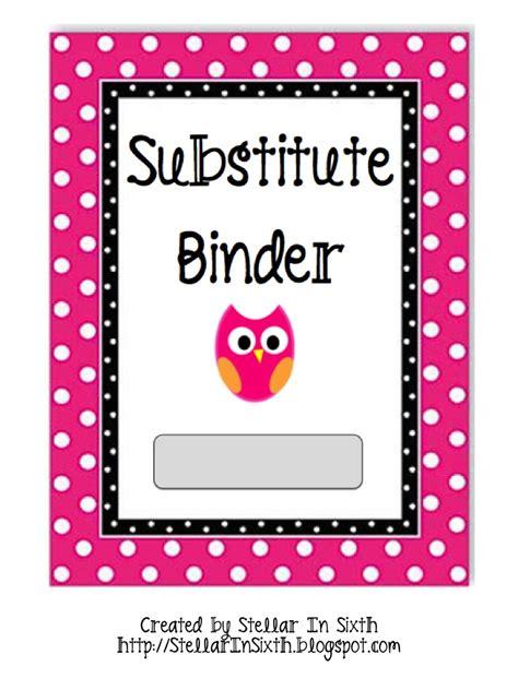 Stellar In Sixth Free Substitute Binder Printables Substitute Folder Template