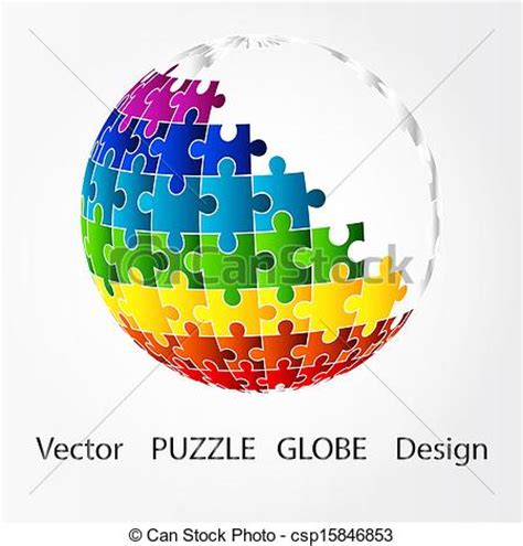 Open Concept Home Plans by Clipart Vector Of 3d Puzzle Globe Design 3d Globe In