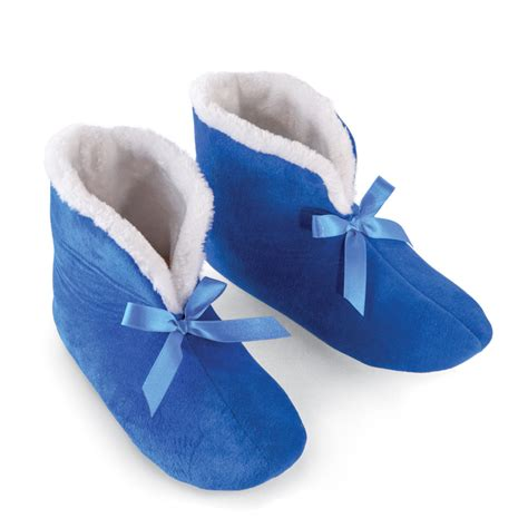 fleece lined slippers comfy fleece lined slipper booties by collections etc ebay