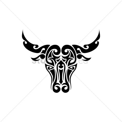 ox tattoo design vector image 1433642 stockunlimited
