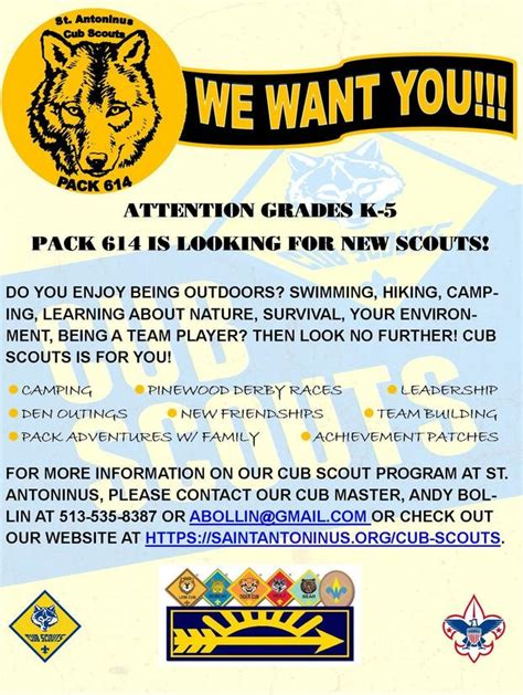 Cub Scout Flyer Template cub scout recruiting flyers hunt hankk co