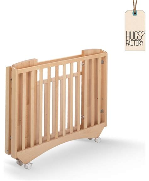 folding wooden baby crib greenwich by hugs factory