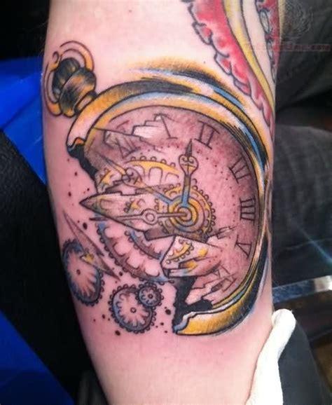 broken clock tattoo clock tattoos page 20