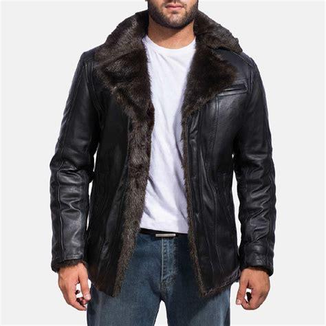 Jaket Jas Blazer Black Style Black mens furcliff black leather coat