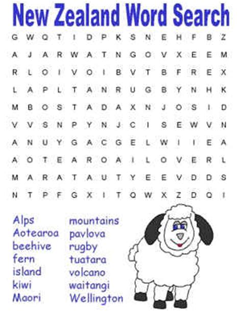 Search Nz Printable Word Search Puzzles