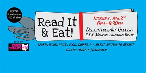 Read It And Eat by Read It And Eat A Benefit For Toledo Streets Newspaper