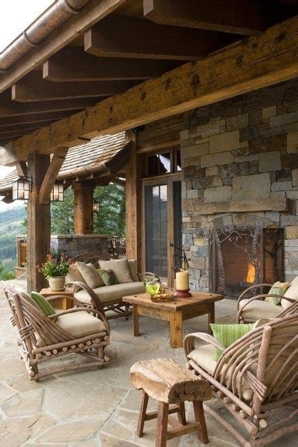 rustic outdoor living space outdoor living pinterest