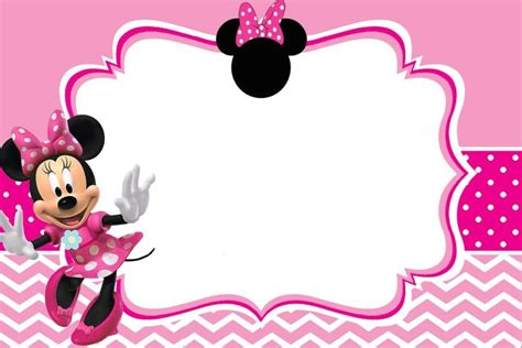 minnie mouse template invitations minnie mouse birthday invitation template free
