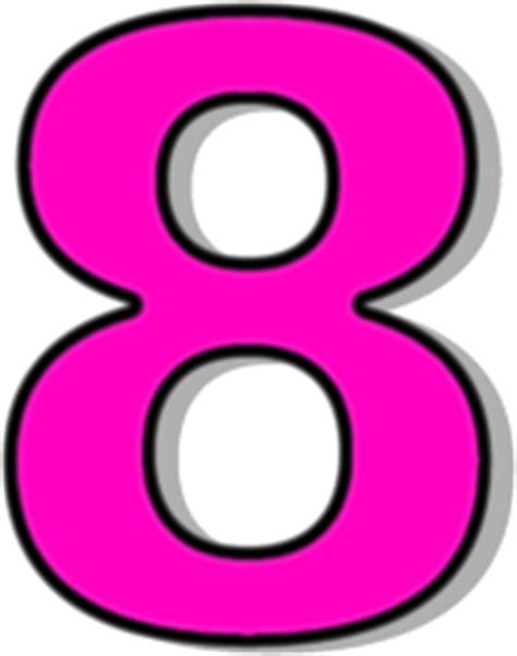 q q numeric pink number 8 pink signs symbol alphabets numbers outlined