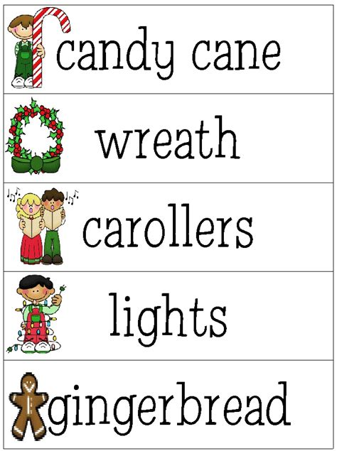 search results for christmas words for kindergarten
