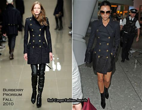 Catwalk To Carpet Beckham by Runway To Heathrow Beckham In Burberry Prorsum