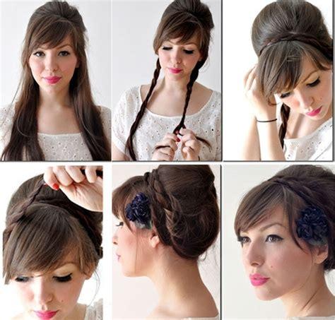 tutorial sanggul modern ala korea sanggul kepang rambut pendek hairstylegalleries com