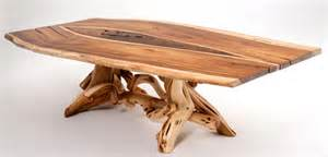 Juniper Dining Table Base Juniper Dining Table With Inlaid Slab Top
