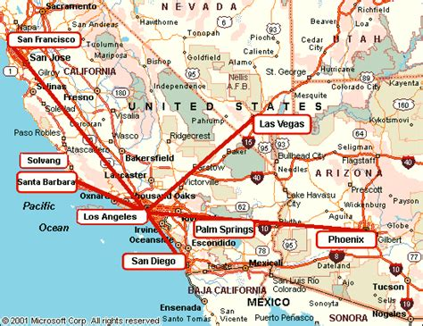 map of los angeles and las vegas why fly from los angeles drive