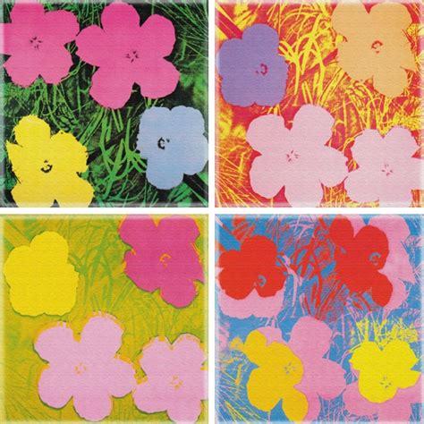 fiori di andy warhol telasto la tua foto su tela in un click fiori